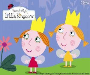 Puzzle de Daisy y Poppy, las hadas gemelas, las hermanitas de Holly