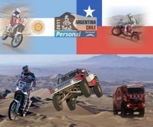 Puzzle de Dakar 2011 Argentina Chile