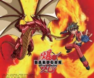 Puzzle de Dan Kuso y Pyrus Drago su Bakugan guardian
