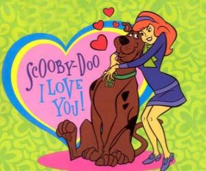 Puzzle de Daphne abrazando a Scooby Doo