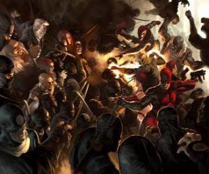 Puzzle de Daredevil, El hombre sin miedo es un superhéroe ciego que tiene los otros sentidos superdesarrollados y posee un sexto sentido, la ecolocalización
