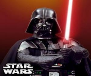 Puzzle de Darth Vader con su sable de luz