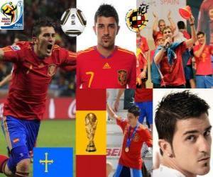 Puzzle de David Villa (El gol de España) delantero Selección Española