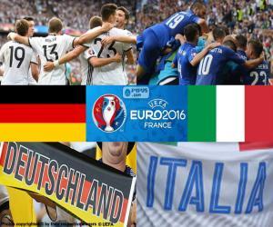 Puzzle de DE-IT, cuartos de final Euro 2016