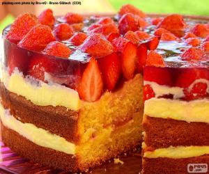 Puzzle de Delicioso pastel de fresa