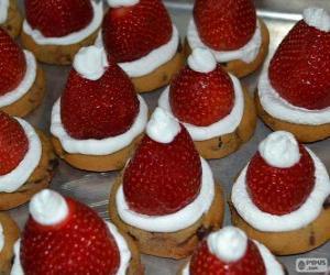 Puzzle de Deliciosos gorros de Papa Noel