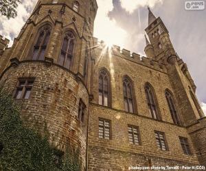 Puzzle de Detalle del Castillo de Hohenzollern, Alemania