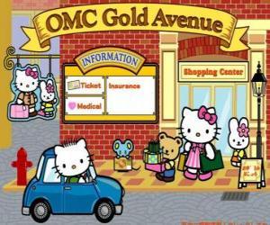 Puzzle de Día de compras con Hello Kitty y sus amigos