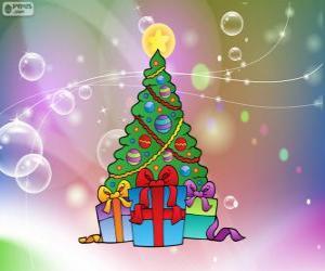 Puzzle de Dibujo de árbol de Navidad