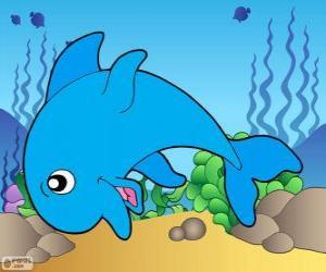 Puzzle de Dibujo de delfín