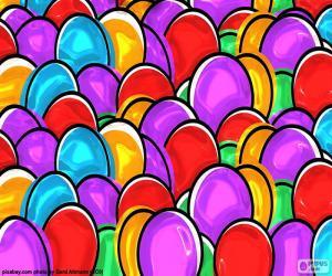 Puzzle de Dibujo de huevos de Pascua