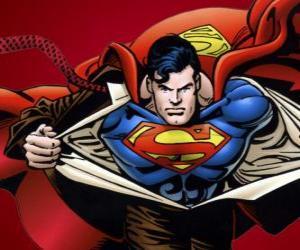 Puzzle de Dibujo de Superman