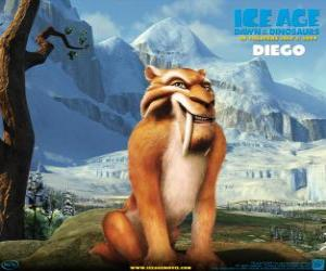 Puzzle de Diego, el tigre diente de sable
