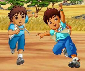 Puzzle de Diego Márquez, un niño aventurero que ayuda a los animales en peligro