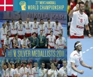 Puzzle de Dinamarca medalla de Plata en el Mundial de Balonmano 2011