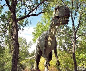 Puzzle de Dinosaurio en el bosque