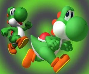 Puzzle de Dinosaurio Yoshi es el mejor amigo de Mario