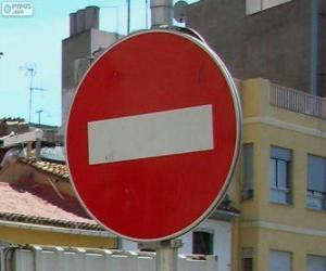 Puzzle de Dirección prohibida