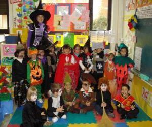 Puzzle de Disfraces para Halloween