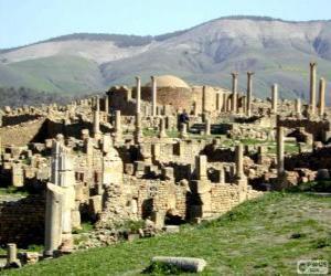 Puzzle de Djémila, yacimiento arqueológico romano, Argelia