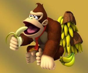 Puzzle de Donkey Kong, el famoso gorila de Nintendo