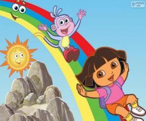 Puzzle de Dora, Botas y el arco iris