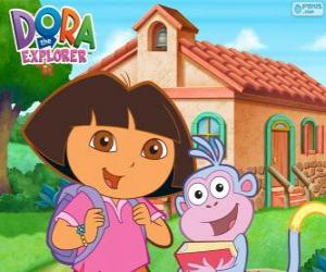 Puzzle de Dora y Botas van a la escuela