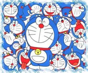Puzzle de Doraemon es un gato cósmico que viene del futuro