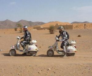 Puzzle de Dos aventureros en moto