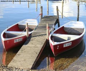 Puzzle de Dos botes de remo