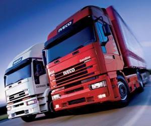 Puzzle de Dos camiones Iveco