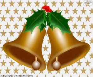 Puzzle de Dos campanas navideñas