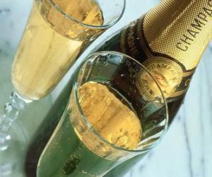 Puzzle de Dos copas de Champagne