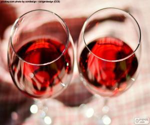 Puzzle de Dos copas de vino