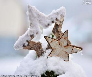 Puzzle de Dos estrellas con nieve