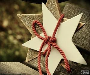 Puzzle de Dos estrellas de madera
