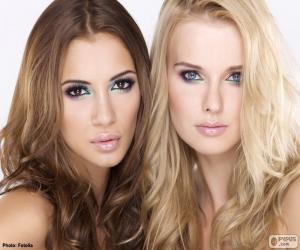 Puzzle de Dos guapas modelos