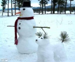 Puzzle de Dos muñecos de nieve