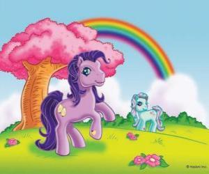 Puzzle de Dos ponis en el campo