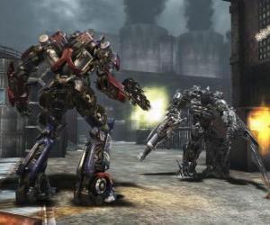 Puzzle de Dos robots transformers