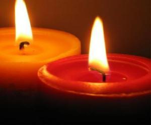 Puzzle de Dos velas encendidas