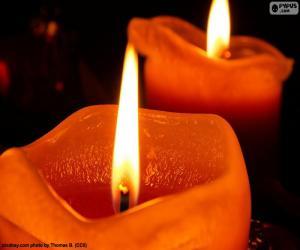 Puzzle de Dos velas navideñas