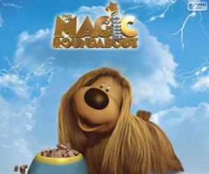 Puzzle de Dougal, el perrito de pelo largo del Tiovivo Mágico