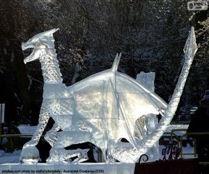 Puzzle de Dragón de hielo