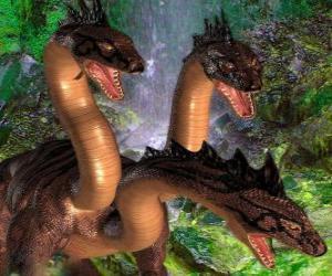 Puzzle de Dragón de tres cabezas