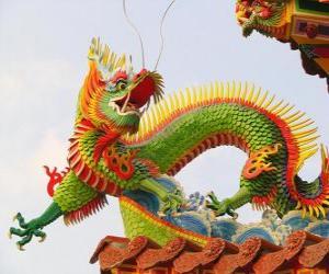 Puzzle de Dragón oriental