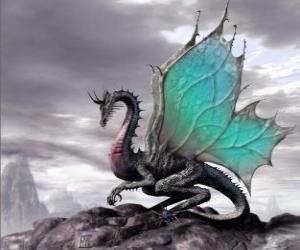 Puzzle de Dragón alado