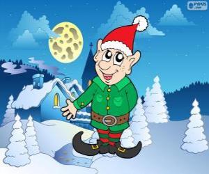 Puzzle de Duende de Santa Claus