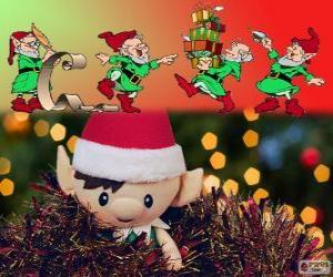 Puzzle de Duendes navideños