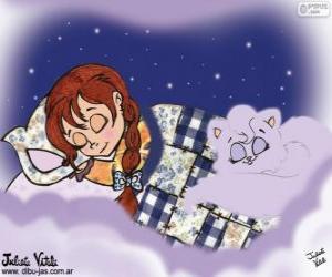 Puzzle de Dulces sueños. Dibujo de Julieta Vitali